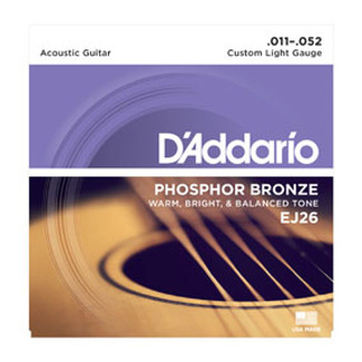 DAddario Saiten Western Phosphor EJ26, Custom Light
