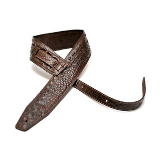 Bourbon Strap Alligator Brown Gitarrengurt