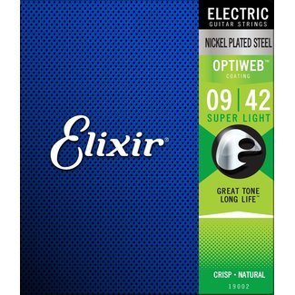 Elixir 19002 E-Gitarre Saiten Optiweb 009-042 Super Light