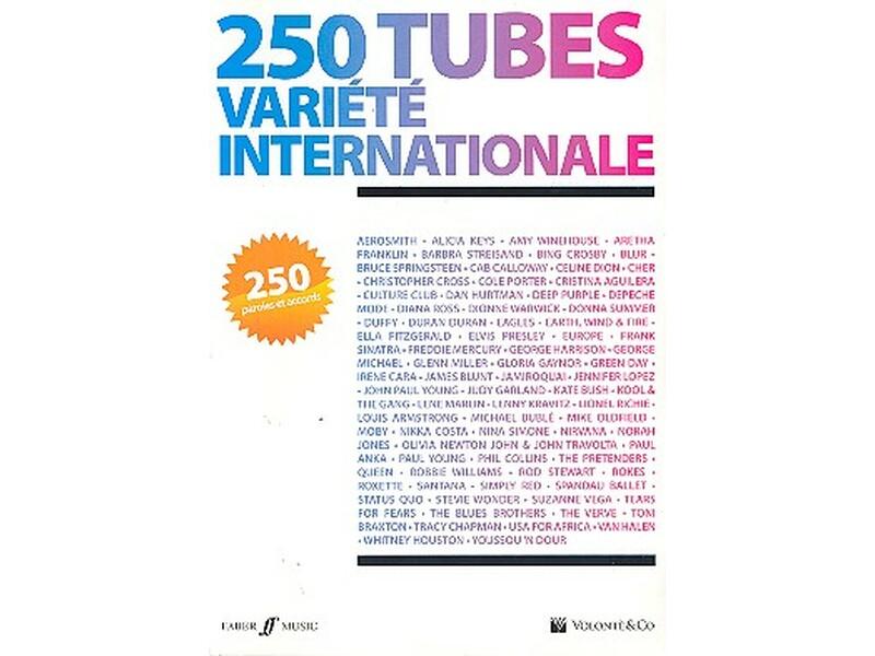 250 Tubes Variete Internationale Paroles Et Accords Songbook