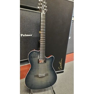 Godin A6 Ultra Denim Blue Flame mit Koffer