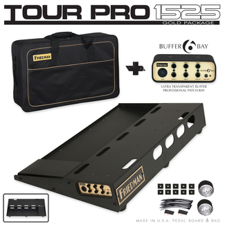 Friedman Tour Pro 1525 Gold Pack Pedalboard
