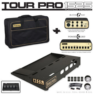Friedman Tour Pro 1525 Platinum Pack Pedalboard