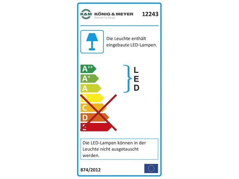 K/&M 12243 Notenpultleuchte Double LED FlexLightNeu